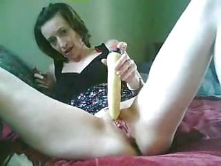 Shot cum in her food She cums on her dildo self-shot