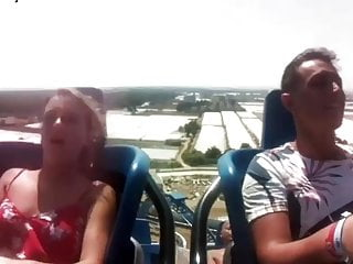 Girl fucked on rollercoaster Rollercoaster boobs