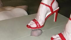trampling with red heels