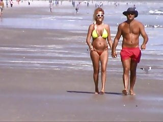 Dyed pussy hair Spied beach mature pussy hair jiggly huge tits 50