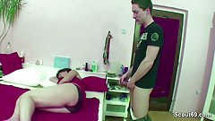 Mother Caught Him Jerk and Helps With Fuck