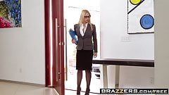 Big Tits at Work -  Her First Big Sale scene starring Sarah