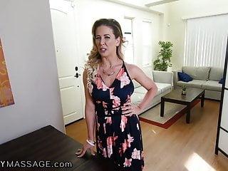 My friends hot mom porn website - Fantasymassage gave my friends hot mom cherie a pov rub