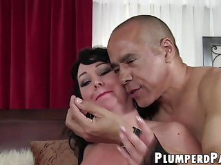 Plus size vintage reproduction - Plus size babe facialized after taking asian cock