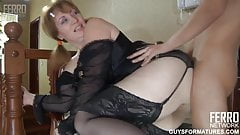 The boy after the party fucked a Mature stranger aunt