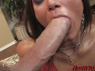 Big Round Booty Girl Cece Takes Biggest White Cock