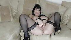 Mature in black stockings
