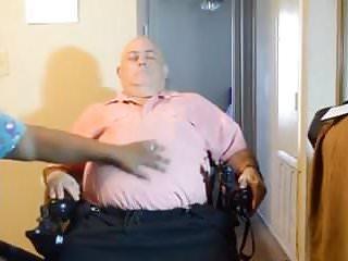 Crippled wheelchair brace sexy Black nurse giving handjob to guy in wheelchair