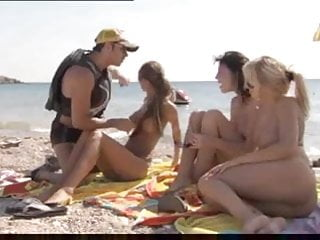 Lifeguard cocks - Lifeguard picks up 3 girls