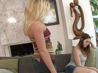 Fingering lesbos - Sexy lesbos with great bodies finger fuck on the couch