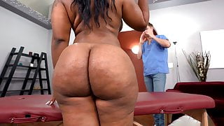 BBW Ebony Ms London Wants A Little More Than A Massage