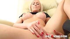 Blonde Euro Babe Victoria Masturbates with Her Sex Toys 3