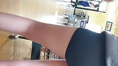 Teen spandex booty shorts