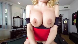 BaDoink VR Big Tits Britney Amber Rides a Big Black Cock