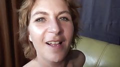 Dutch slut gets her tits creamed on