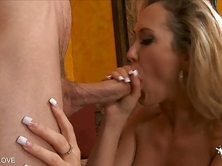 Milf ass reaming - Horny blonde milf licks off cum after a brutal reaming