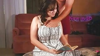 Busty BoobieKat cannot sop reading while being groped