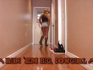 Vintage ride em cowboy pattern - Ride em big, cowgirl
