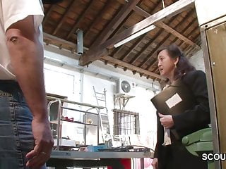 Working mother porn - German mother in stockings seduce to fuck on work