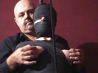 Humiliation public cunt Mummified whore gets nipple tortured and vibrator in cunt