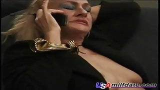 Granny is Horny and Calls Male Escort Service For Guy 2 Fuck