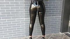 16см 6-дюймовые одинарные каблуки-подошвы, виниловые леггинсы