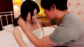 Fingered asian teen cumsprayed in mouth