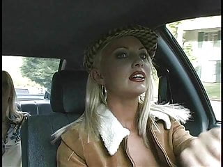 Pictures of sexy business women 3 women get busy in a taxi