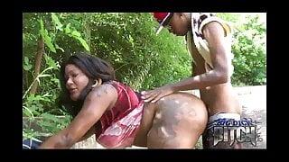 big dick b!tch takes dick outside
