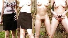 Одетые голые волосатые киски