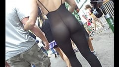 Blonde Babe Naked In See Through Pantyhose Nylon Body Suit