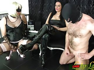 Tranny slaves Slave and tranny masturbation contest for german domina