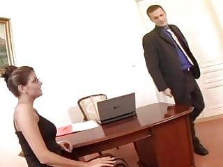 Scene secretary sex - Nerdy secretary sex in thigh high stockings
