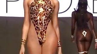 Nude fashion show see through