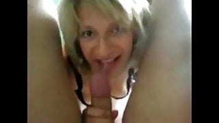just finished work & cummin in wife susie's mouth
