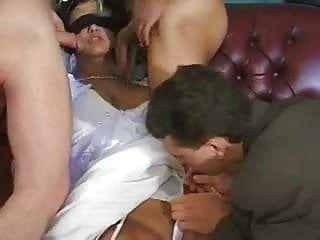 Vintage wedding dresses pricilla boston - Bride in wedding dress gets a gangbang.