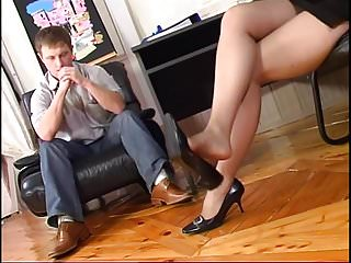He slammed into her pussy - Slam her pussy in her tights....