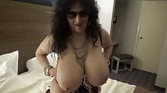 Hot Big Boob Tinja Goes Topless In Latex