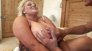 BBW slut in her sexy  underwear is ready to fuck wildly