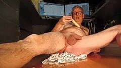 Pierre Cums on Dildo