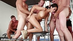 DogHouse Slutty Chick Bukkake at Gym