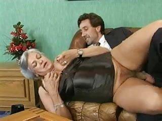 Granny dp porno