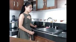 Favorite Shemale in Kitchen