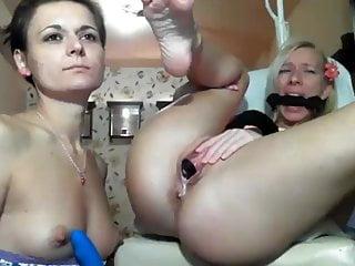 Lesbian 4 fingers 4 finger in her asshole