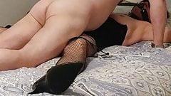The wife fucked in bondage