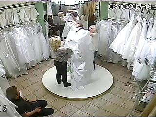 Vintage 1920 s wedding dresses - Spy camera in the salon of wedding dresses 10 sorry no sound