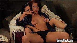 Two Mistresses Wathing Slave As She Masturbates For Them