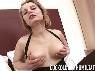 Dakota down end front strip I will choke down his big cock right in front of you