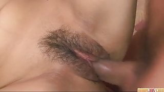 Nana Kunimi gagging and screwed on the couch