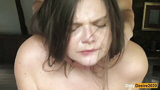 Hard fuck for this chubby girl - creampie for her pussy